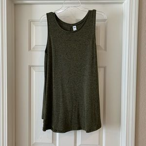 L Old Navy Luxe Green Swing Top